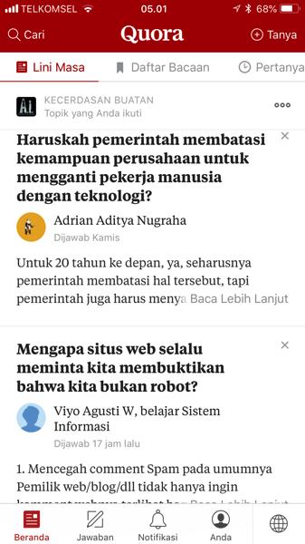 Quora: Aplikasi Tanya Jawab Bahasa Indonesia | Andry ...